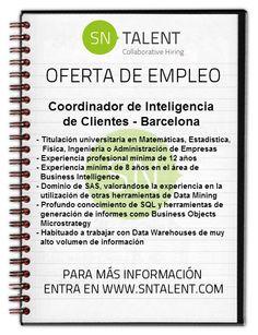 #Coordinador de #Inteligencia de #Clientes en #Barcelona