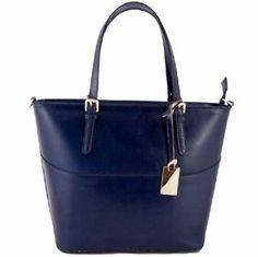 Trendy blauwe leren schoudertas Deze blauwe tas kunt u gebruiken als  schoudertas en is voorzien van. leren tassen online trendywoman b4b83e99b6