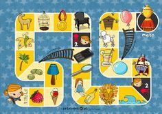 Gra planszowa z głoską [l]. - Printoteka.pl Gra, Memories, Logos, Schools, Places, Speech Language Therapy, Bebe, Room, Memoirs