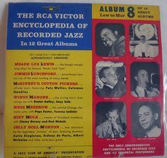 "RCA Victor Encyclopedia of Recorded Jazz Album #8 10"" LP   #EarlyJazz"
