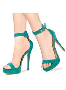 Valuable Contrast Colour Suede Dress Sandals
