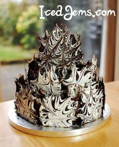 ... Ima be honest i pinned this cause it looks good and in hungry ...  Great idea for non Fondant Cakes and Chocolate lovers!