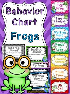 "Frogs Theme Behavior Clip Chart in a fun chevron pattern for your classroom perfect for a frog themed classroom! Students love trying to get to the top of the chart to be the ""Top Frog"" and take home an award to show their family!SAVE A TON by grabbing ALL my behavior charts in the Behavior Charts BUNDLE to have an entire year of fun behavior clip charts!I have these for so many themes!!"