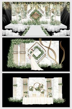 Modern minimalist Mori marble background wedding renderings#pikbest#decors-models Wedding Backdrop Design, Wedding Stage Design, Wedding Reception Backdrop, Wedding Stage Decorations, Wedding Photo Props, Wedding Mandap, Wedding Receptions, Wedding Table, Wedding Ideas