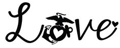 "Marine Love Decal (choose color) 14""x6"" Emerson http://www.amazon.com/dp/B00TWN1MIK/ref=cm_sw_r_pi_dp_iqK6ub07FEVY0"