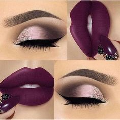 25 Ideas for makeup ideas purple lipstick make up Cute Makeup, Gorgeous Makeup, Pretty Makeup, 80s Makeup, Witch Makeup, Glamorous Makeup, Scary Makeup, Flawless Makeup, Costume Makeup