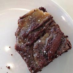 Salted carmel brownie
