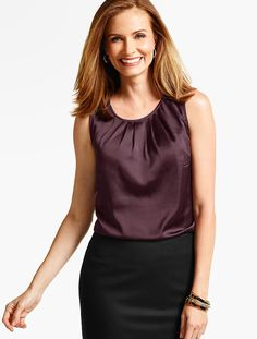 BUY: Pleat-Top Shell - Talbots