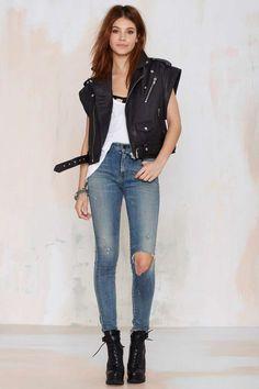 Nasty Gal Leather - The Walk Away Vest