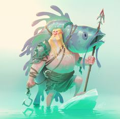 Geir, the ice-blooded Viking for the Character Design Challenge. My first entry to the challenge.