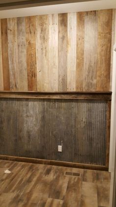 Rustic wall barnwood and tin #homedecorapartmentmen