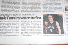 Inez Ferreira (Nottingham Wild Cats Basketball Club), publication for Record, portuguese sport magazine.