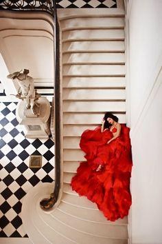 Le coeur dans l'escalier