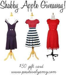 $50 Shabby Apple Giveaway!  I want to win this dress so bad!