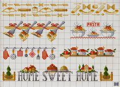 Risultati immagini per punto croce schemi cucina