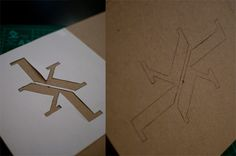 KK monogram by Kine Marie Kapaasen Madsen, via Behance