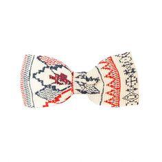 Men's White/Red/Navy Bow Tie - Pajakylä