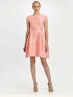 Pretty in #pink - #Lotusgrace Flamingo Burnout Dress