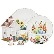Lenox Floral Meadow - Colorful Meadow flowers make this fine porcelain pop. As of Sept. 2013, stock remains but this Lenox pattern is listed as retired.