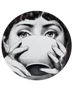 Fornasetti Plate - Black & White