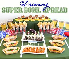 #Superbowl #Party #Table #Spread Idea. Elegant Disposable #Dinnerware By: Smarty Had a Party
