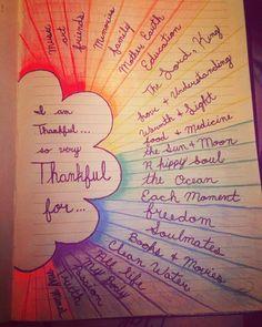 I am so very thankfu. I love journaling #journal #journaling #artwork #thankful #thanksgiving #writingideas
