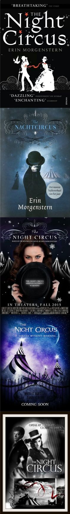 Book covers and posters for The Night Circus.