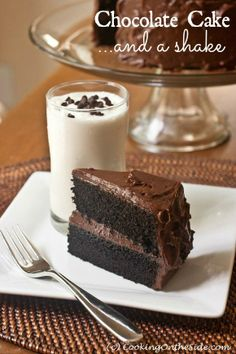 Dark Chocolate Cake…and a Shake. EPIC sweetness fit for a #birthday celebration from @Kathy Strahs | Panini Happy