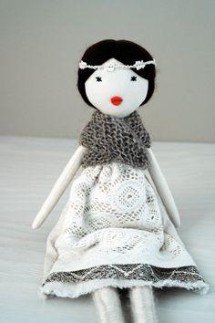 Rag doll cloth doll handmade one of a kind / by lespetitesmainsS