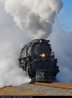 Net Photo: UP 4014 Union Pacific Steam at Prescott, Arkansas by John Doughty Train Tattoo, Railroad Photography, Old Trains, Train Engines, Lehigh Valley, Steam Engine, Steam Locomotive, Photo Location, Railroad Tracks