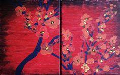 Original 2 Pc. Painting Canvas Set Landscape by HeatherLangeArt