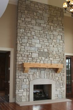Limestone Fireplace Area Rugs fireplace and mantels chairs.Farmhouse Fireplace Doors fireplace insert built in.Fireplace Built Ins Bedroom. Stone Veneer Fireplace, Stone Fireplace Designs, Stone Fireplace Surround, Stacked Stone Fireplaces, Simple Fireplace, Fireplace Garden, Limestone Fireplace, Rock Fireplaces, Concrete Fireplace