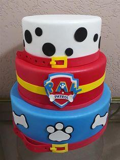 Bolo Do Paw Patrol, Paw Patrol Cake Toppers, Cumple Paw Patrol, Baby Birthday Cakes, Superhero Birthday Party, 3rd Birthday Parties, Paw Patrol Birthday Theme, Paw Patrol Party, The Good Dinosaur
