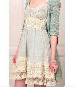 Beautiful lace dress and cardigan