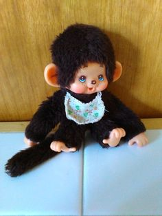 Monchichi, 16 cm, mit Lätzchen