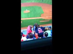 Red Sox Fan Falls Over Seats Celebrating Victorino Home Run