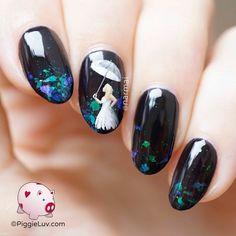 PiggieLuv: Umbrella girl nail art