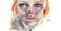 Stunning watercolor portraits by Italian artist Agnes Cecile