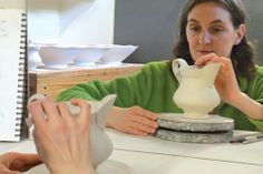 Monica Ripley, Ceramics Monthly 2014 Working Potter, based out of Somerville, Massachusetts, uses porcelain fired at cone 10 to make her pieces. http://ceramicartsdaily.org/ceramics-monthly/ceramics-monthly-junejulyaugust-2014/