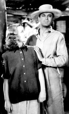 Jean Arthur & Cary Grant ~ Only Angels Have Wings, 1939