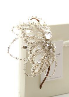 Statement side tiara Angelie - The Modern Vintage Bride, inspired vintage tiaras and wedding accessories