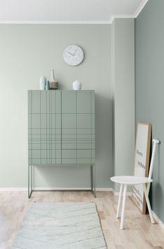 La maison d'Anna G.: New dusty shades from Jotun Lady (Furniture Designs Wall Colors) Estilo Interior, Interior Styling, Interior Design, Pastel Interior, Wall Colors, House Colors, Colours, Green Colors, Color Inspiration