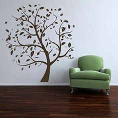 Wall Decals Nature Leaves Tree Decal Vinyl Sticker Family Bedroom Home Decor Interior Design Art Murals EG59