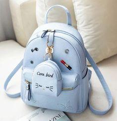 MLITDIS Lovely Mini Women School Bags For Teenagers Korean Style Rugzak Vrouwen Leather Backpack Women Rucksack Mochilas Mujer Cute Mini Backpacks, Stylish Backpacks, Girl Backpacks, Backpack Purse, Leather Backpack, Kawaii Bags, Back Bag, Accesorios Casual, Purses And Handbags