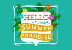 Hello Summer Typography
