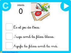 """Primera activitat de la sèrie """"Petites Lectures 3"""", creada per l'Emilia Alcaraz Delgado, adreçada a l'alumnat de l'últim curs d'Educació Infantil i de Primer de Primària, amb la que podran practicar la comprensió lectora de petites frases. NOTA: Els alumnes podran realitzar la lectura amb lletra de pal i lligada."""