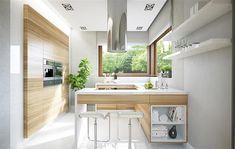 Kitchen Dinning, Kitchen Decor, Interior Design Inspiration, Home Interior Design, Attic House, Modern House Plans, Kitchen Cabinet Design, Sweet Home, Decoration