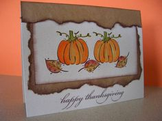 WT341 Thanksgiving Pumpkins by stampin'nana - Cards and Paper Crafts at Splitcoaststampers