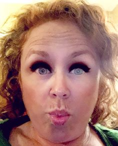 Just for fun with a snap chat filter! Lol I could never get away with that eyeliner! #TeachersLoveOC #operation55 by redheadbex