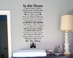 You are purchasing a disney wall vinyl decal quote In this house we let it go Believe elephants can fly Wish upon stars and whistle while we work. With a zip-a-dee-doo-dah and Bibbidi Bobbidi Boo We paint colors of the wind. Its Supercalifragilisticexpealidocious! Be brave enough to see it Use faith, trust, and pixie dust to go on magic carpet rides and Look for bear Necessities. A great adventure is up squirrel Mine mine mine means be our guest We want to be a part of our world Because we…